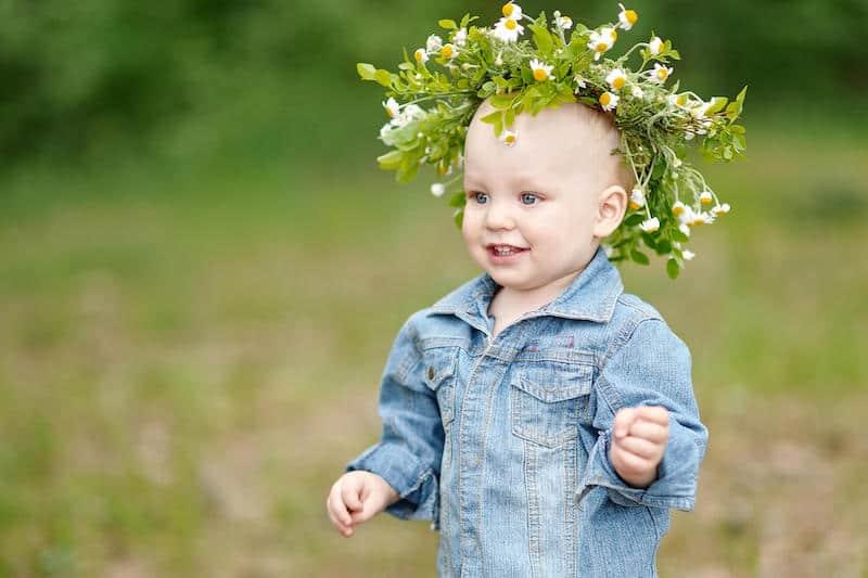 flower child baby boho