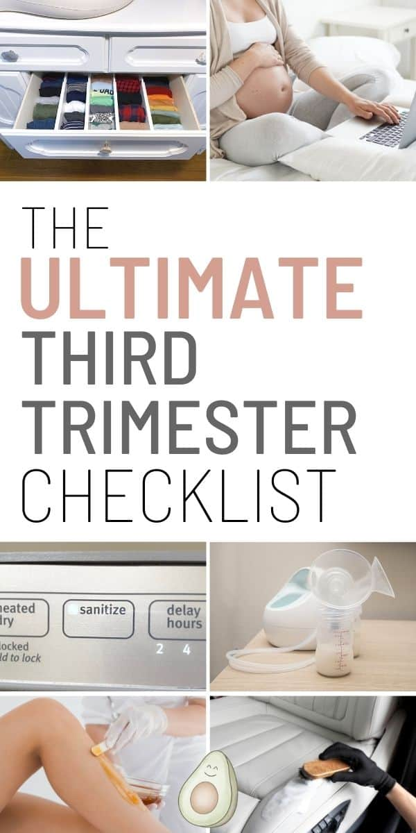 third trimester checklist