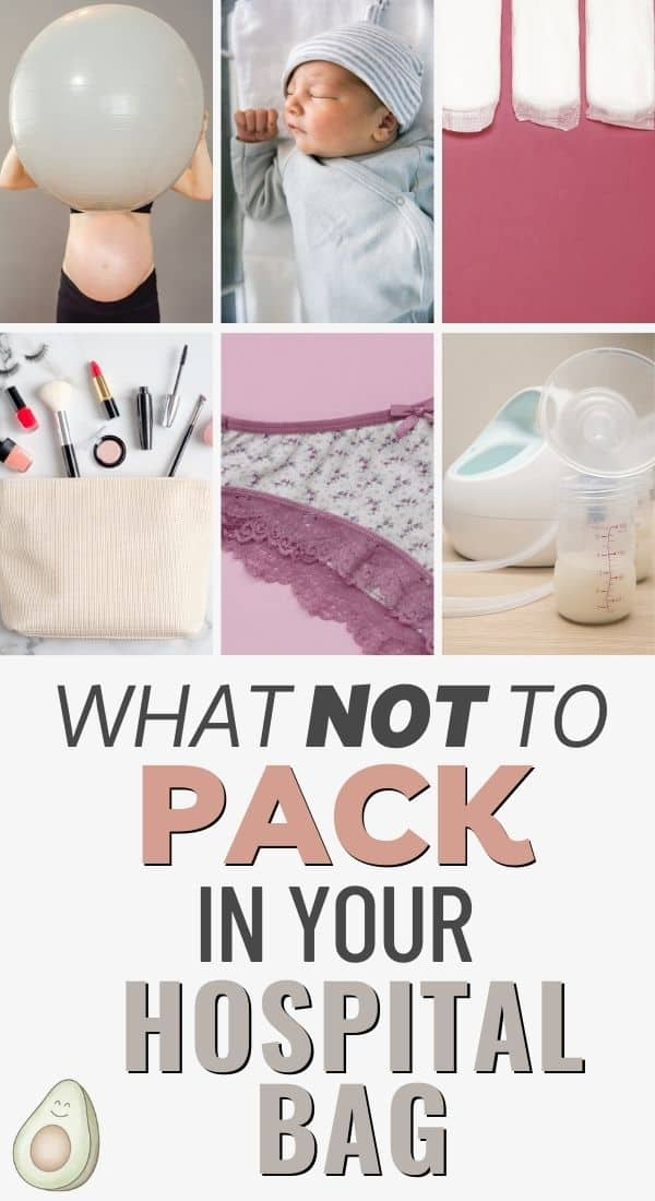 what not to pack hospital bag birth