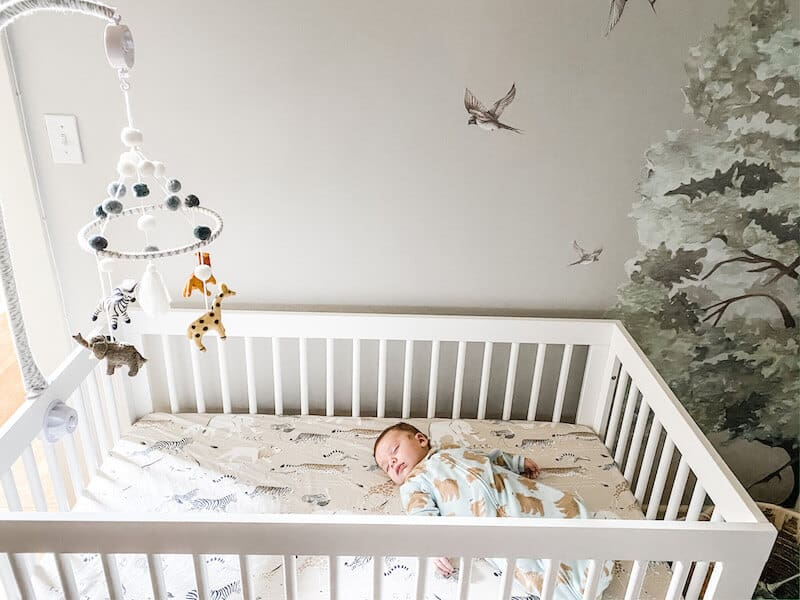 The ABC's of Safe Sleep baby alone back crib