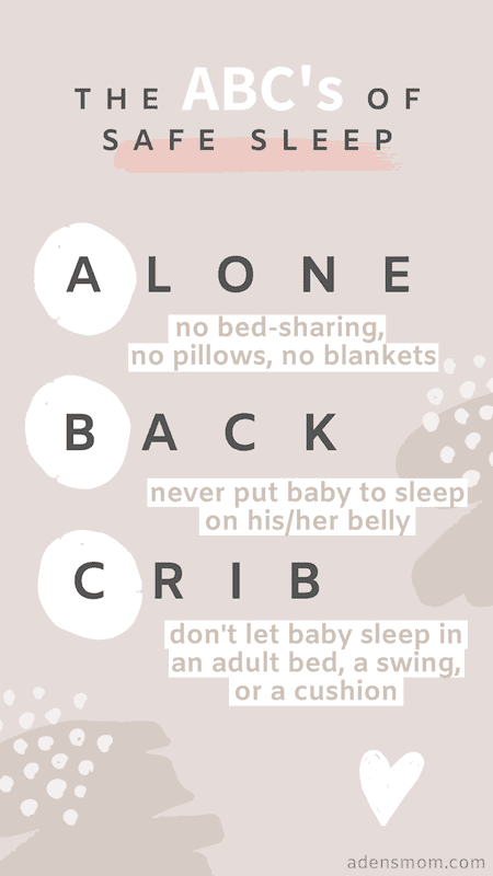 the abcs of safe sleep alone back crib prevent sids