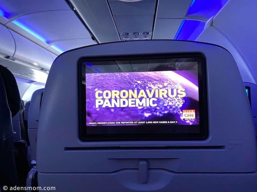 seatback airplane screen coronavirus pandemic