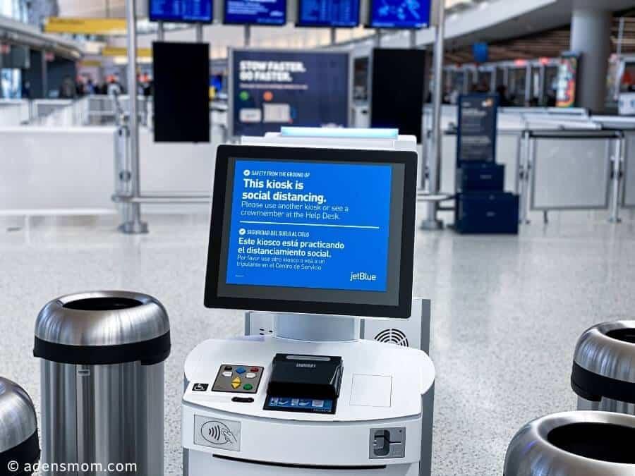 airport kiosk social distancing