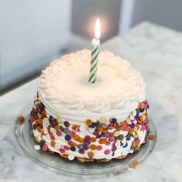 first birthday cake with candle