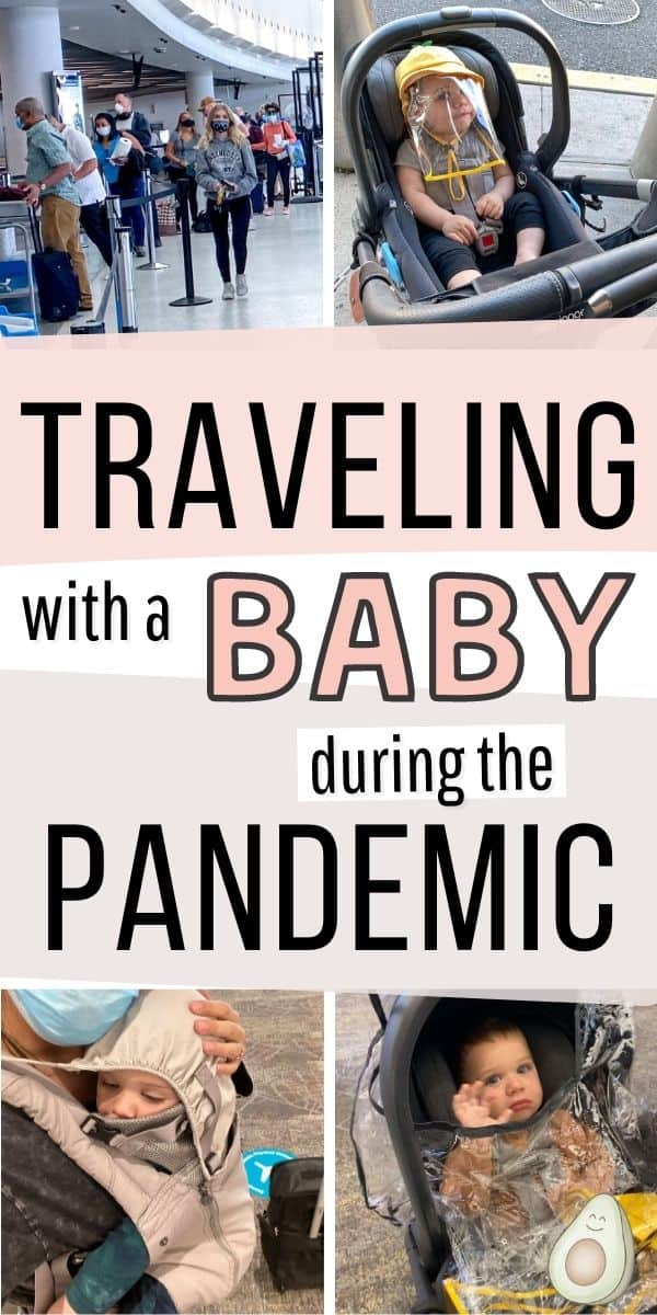 air travel with baby during pandemic pin