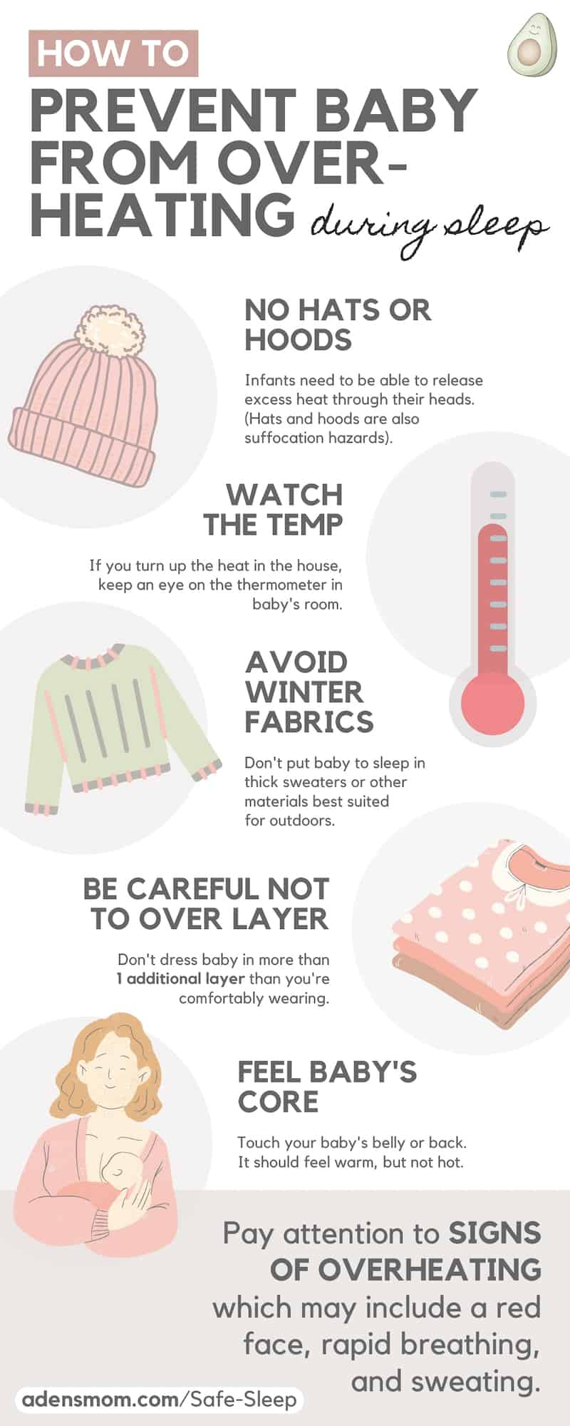 prevent baby overheating infographic