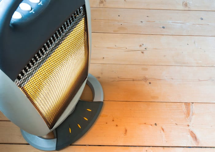 space heater in baby's room