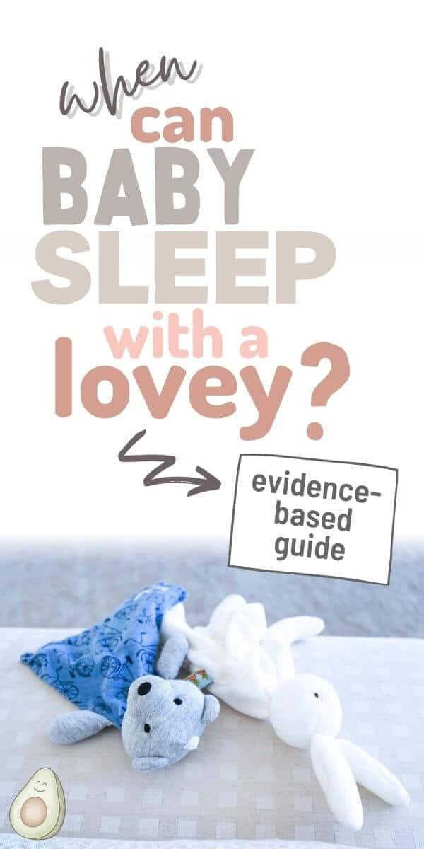 when baby sleep lovey pin