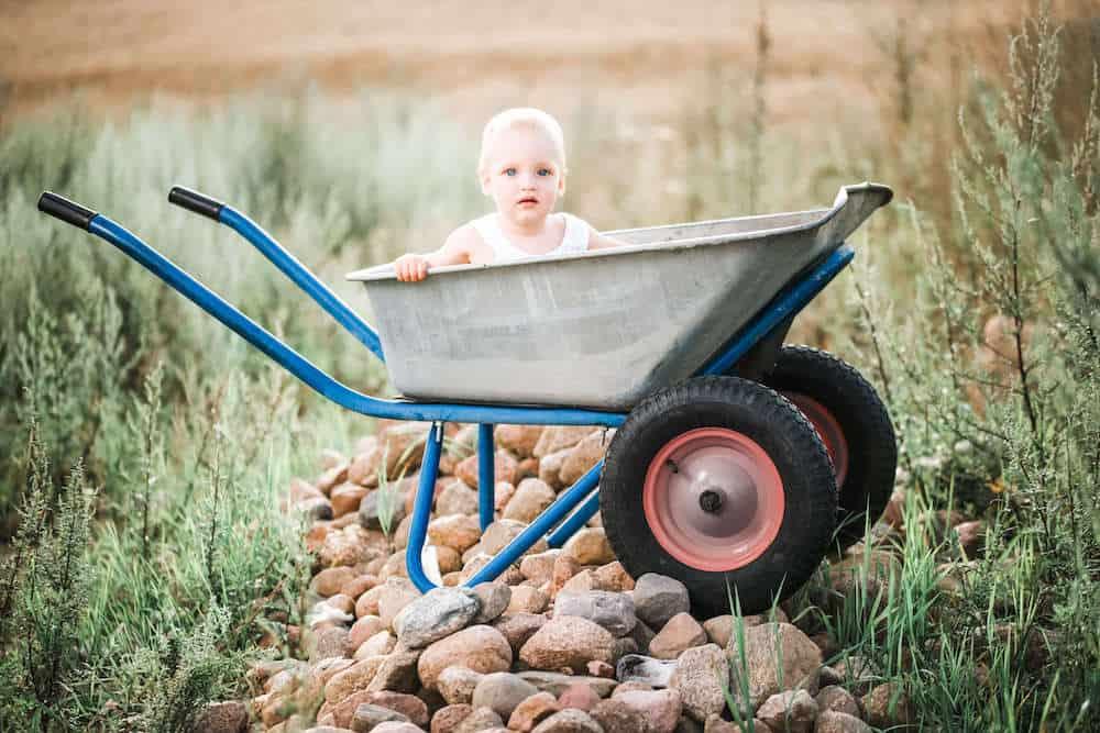 baby boy carter in cart