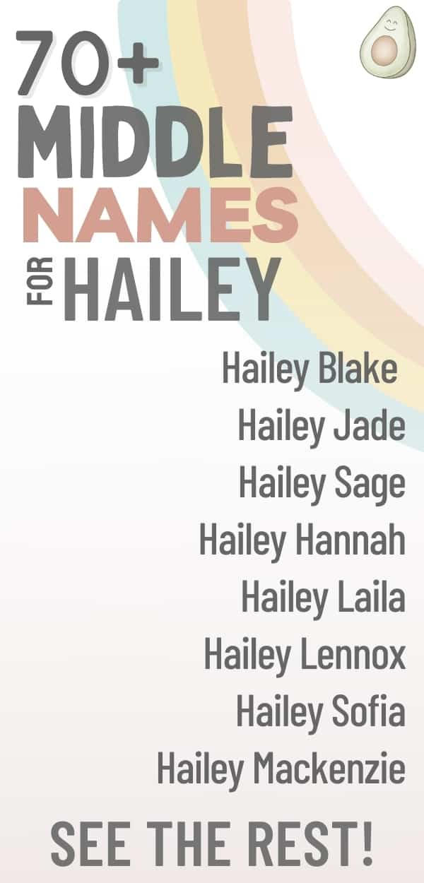 middle names for hailey list