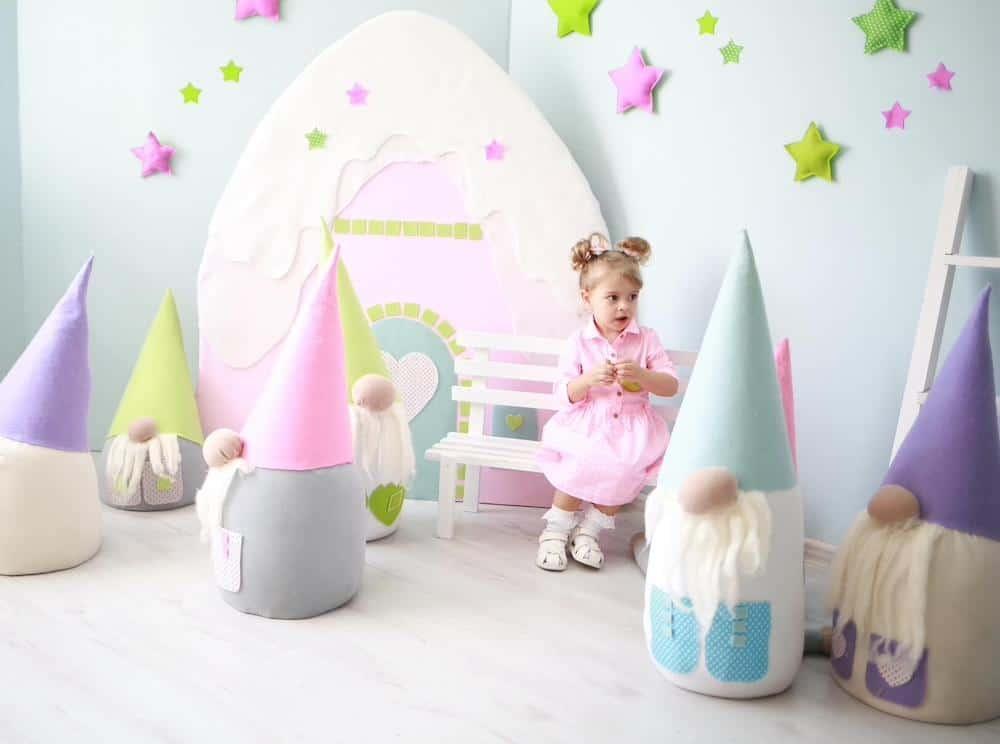 little girl aubrey elves gnomes
