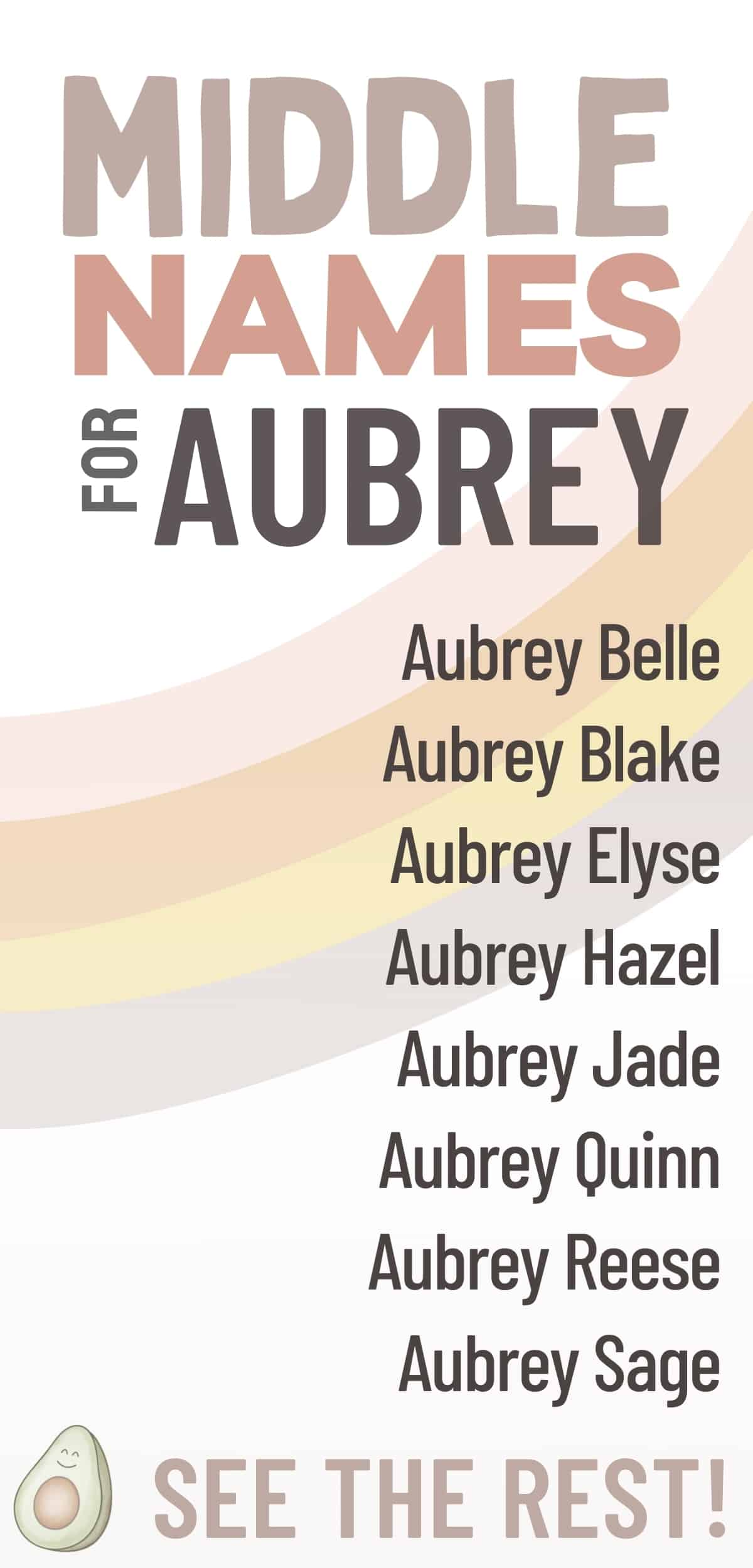 list of middle names for aubrey