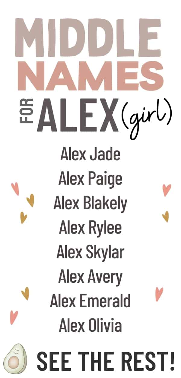 middle names for alex girl