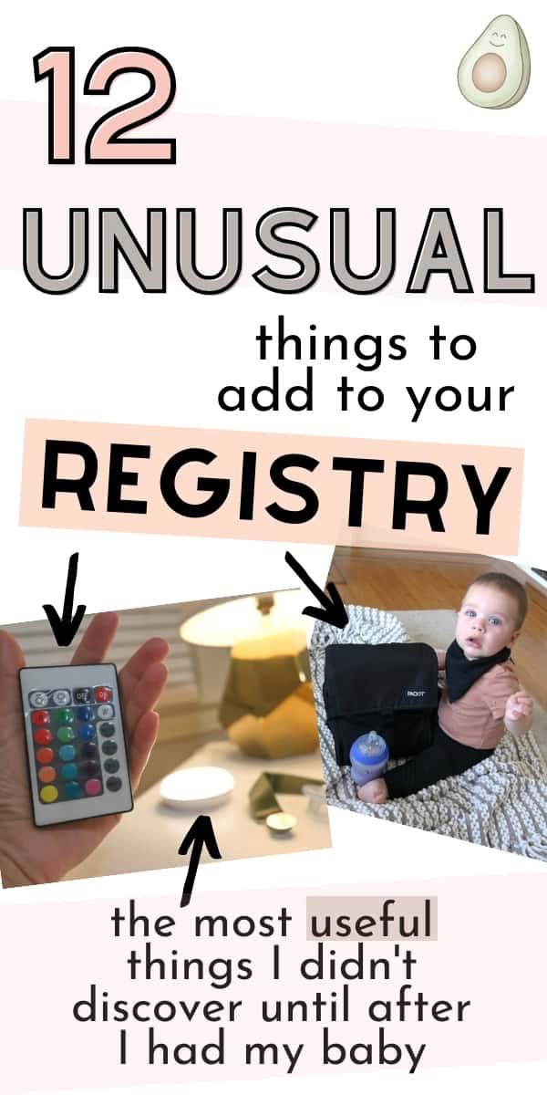 unusual baby registry items