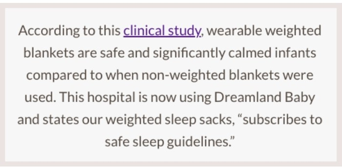 dreamland baby clinical study claims