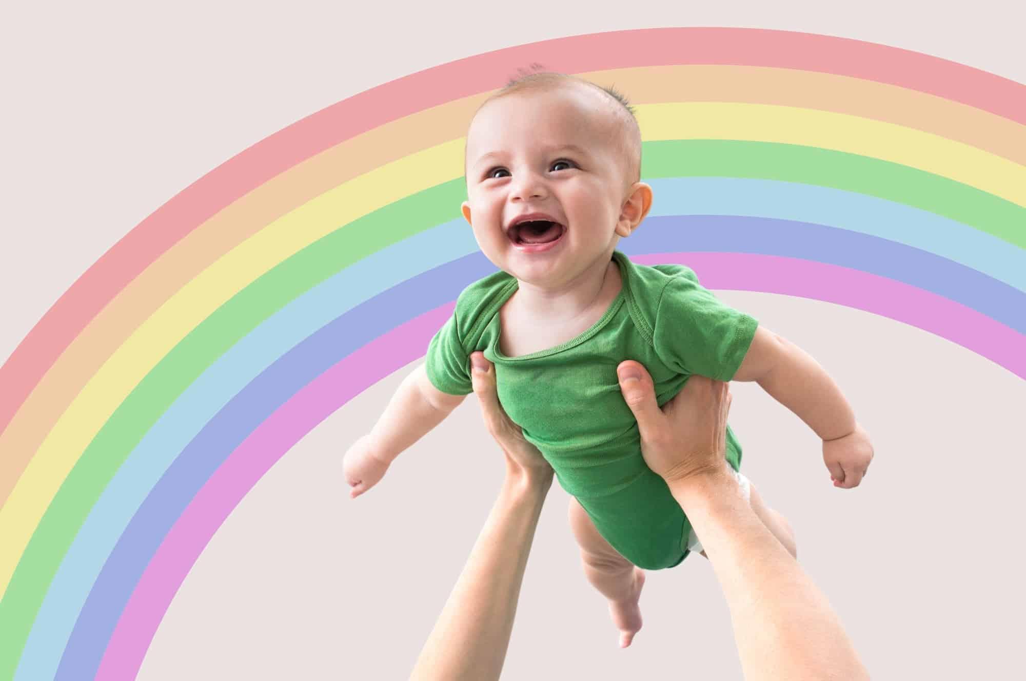 boy rainbow baby