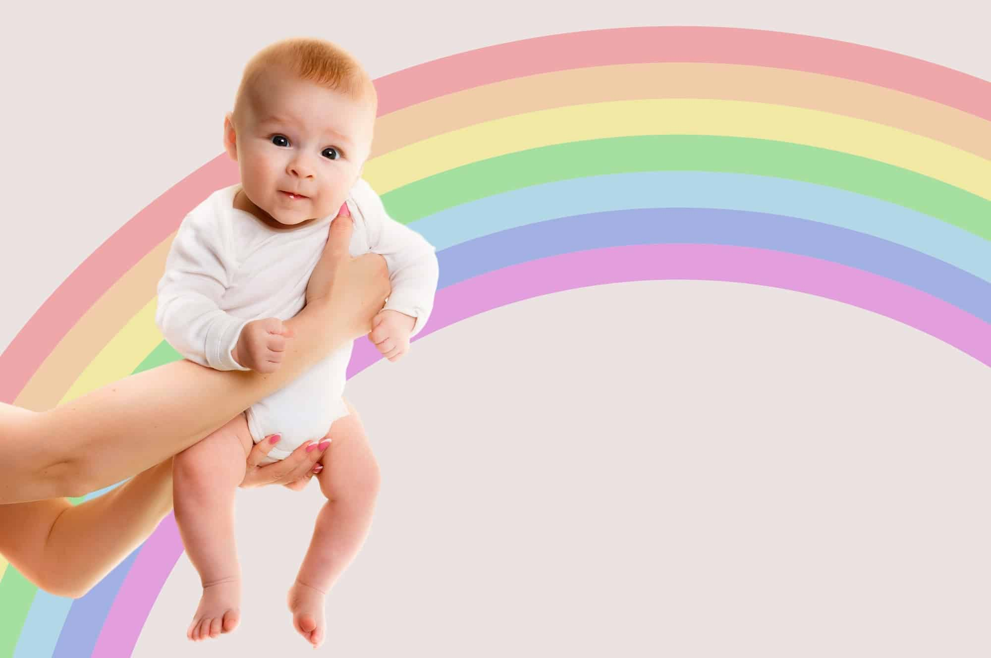 girl rainbow baby