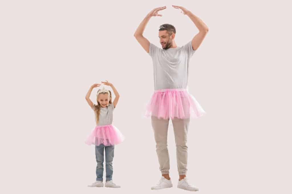 graceful girl with dad