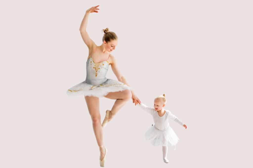 graceful mom and baby