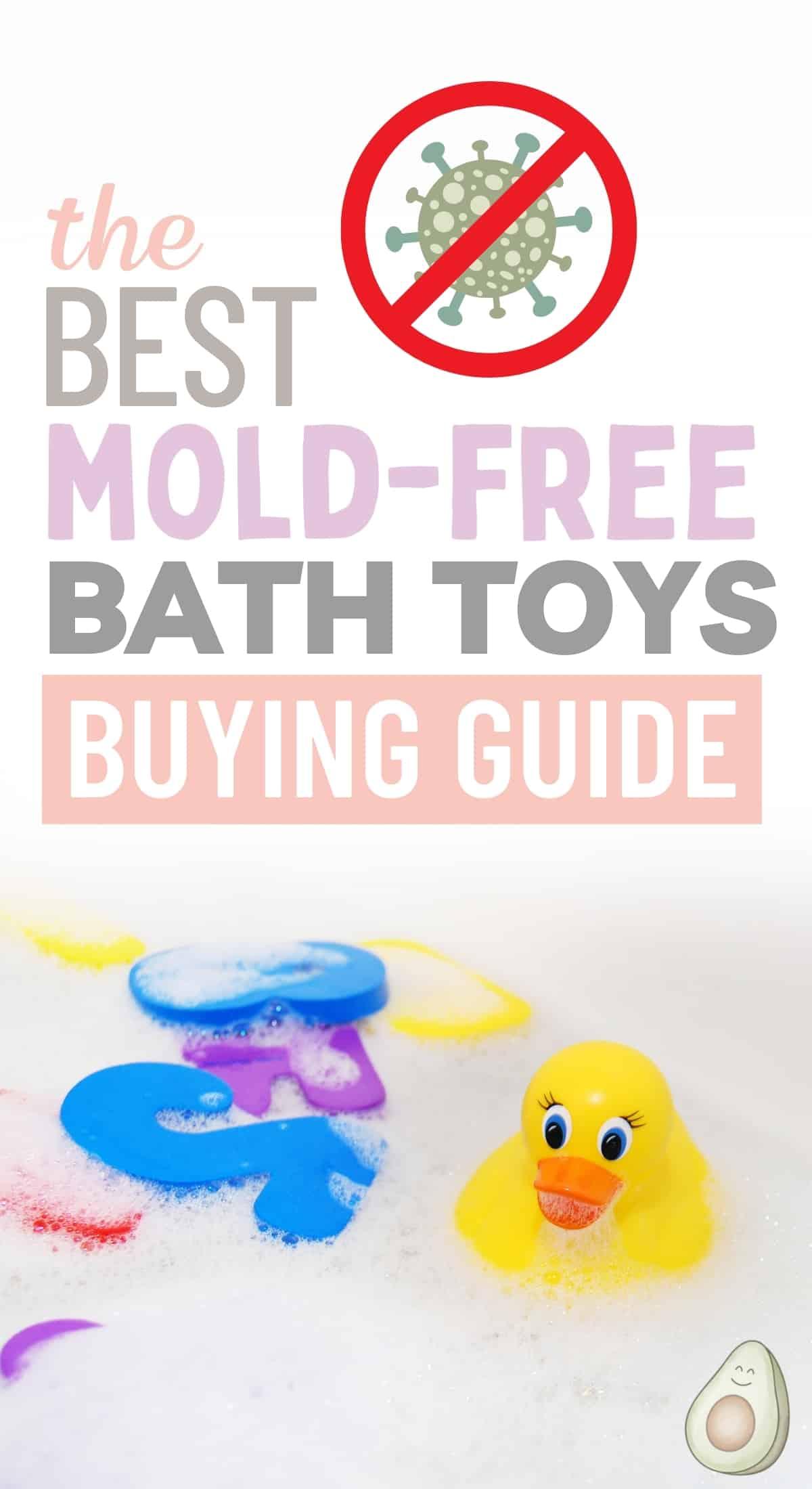 mold free bath toys